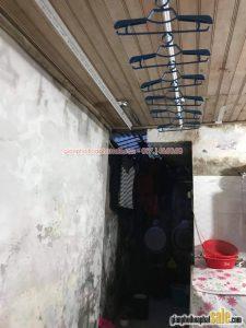 Lắp giàn phơi thông minh Hoàng Mai, Hà Nội: tại nhà chị Minh