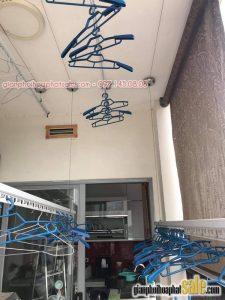 Thay dây cáp, bộ tời giàn phơi Hòa Phát tại chung cư 102 Trường Chinh, nhà anh Phúc - 04