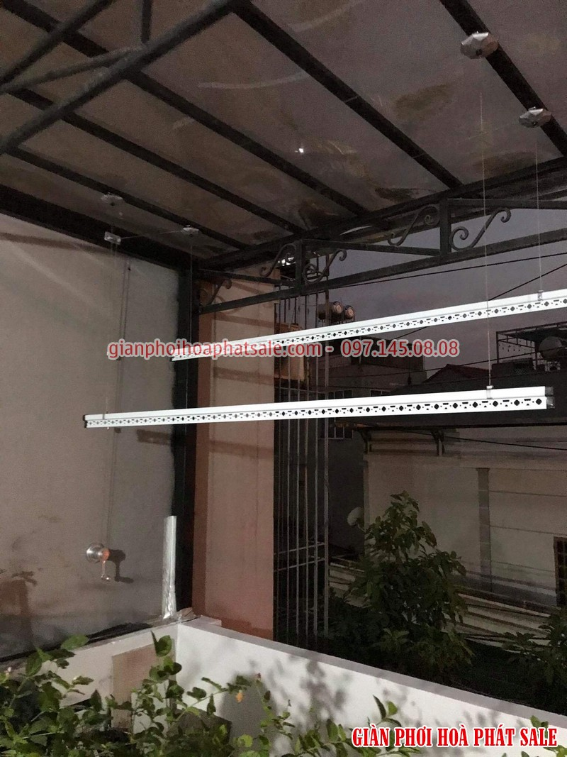 Lắp giàn phơi tại Long Biên, bộ giá rẻ ks950 tại nhà anh Trí, số 10 phố Kẻ Tạnh - 06