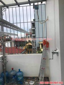 Lắp giàn phơi Hòa Phát HP701 giảm giá 50% tại Đống Đa nhà anh Du