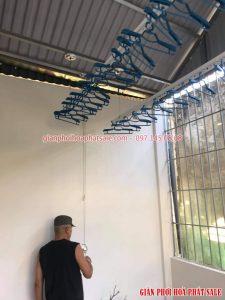 Lắp giàn phơi thông minh Thanh Xuân giá rẻ tại nhà anh Hạnh: bộ KS980 - 01