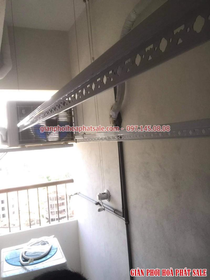 Diện mạo giàn phơi Hòa Phát KS950 lắp tại Hà Đông nhà anh Toàn