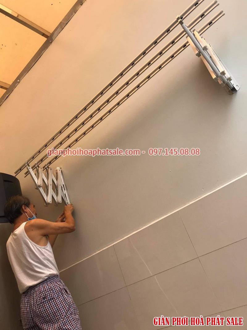 giàn phơi xếp ngang gắn tường Hàn Quốc được sản xuất từ 100% hợp kim nhôm