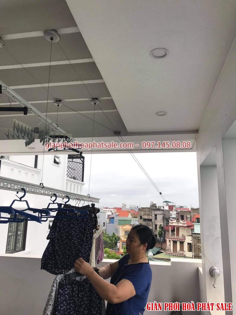 Sửa giàn phơi Long Biên: thay toàn bộ dây cáp nhà cô Hoa, ngoc 206/2 Cổ Linh - 04