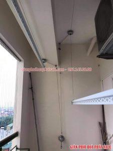 Lắp giàn phơi Hoàng mai bộ Hòa Phát KS950 cho nhà chị Thủy, chung cư 282 Lĩnh Nam - 02