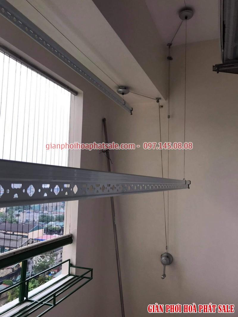 Lắp giàn phơi Hoàng mai bộ Hòa Phát KS950 cho nhà chị Thủy, chung cư 282 Lĩnh Nam - 04