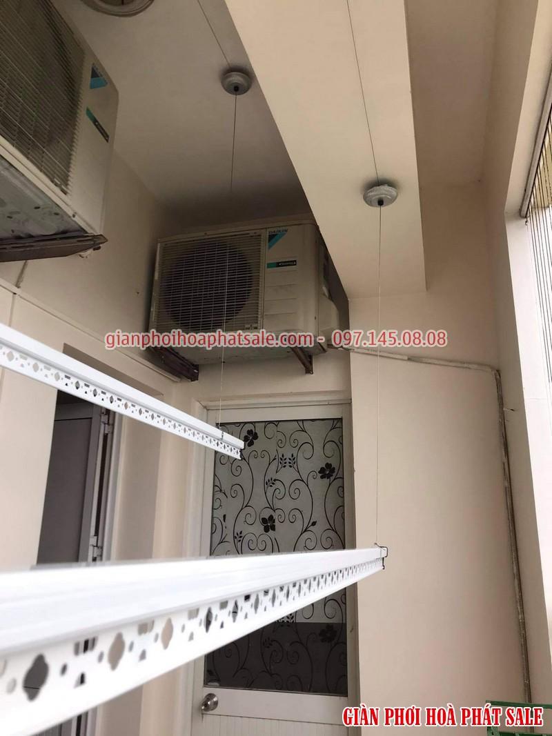 Lắp giàn phơi Hoàng mai bộ Hòa Phát KS950 cho nhà chị Thủy, chung cư 282 Lĩnh Nam - 05