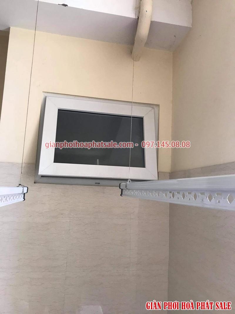 Lắp giàn phơi HP701 giá rẻ tại nhà anh Hiểu, chung cư Phú Gia, Thanh Xuân