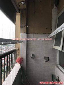 Hình ảnh lắp giàn phơi tại Thanh Trì nhà chị Thiêm, chung cư ct5 Yên Xá - 02