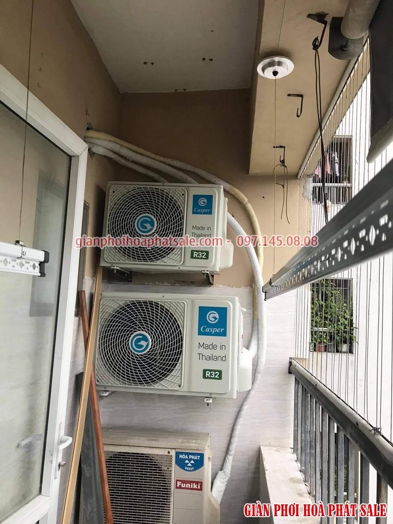 Hình ảnh lắp giàn phơi tại Thanh Trì nhà chị Thiêm, chung cư ct5 Yên Xá - 04