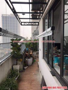 Lắp giàn phơi Thanh Xuân bộ Hòa Phát HP701 nhà chị Bích, chung cư số 4 Chính Kinh - 06