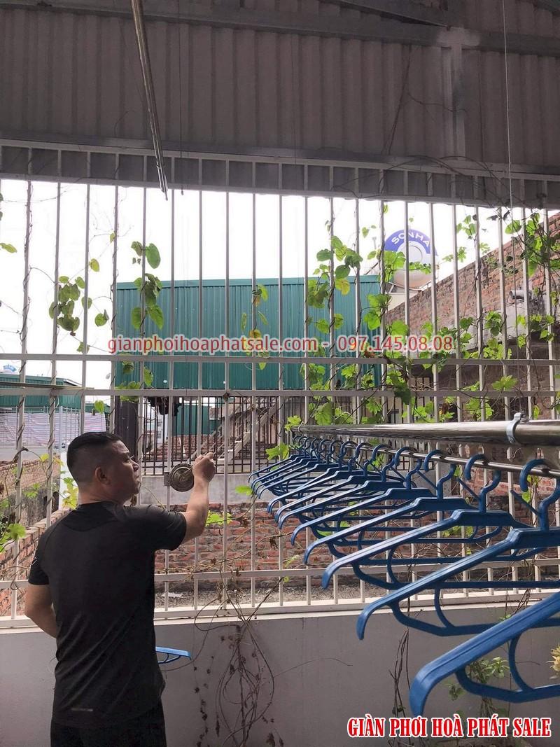 Lắp giàn phơi Hòa Phát tại Hoàng Mai nhà anh Thu - 01
