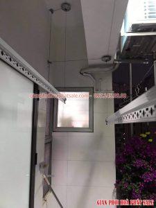 Lắp giàn phơi quần áo chung cư tại Hoàng Mai bộ Hòa Phát HP999B - 04