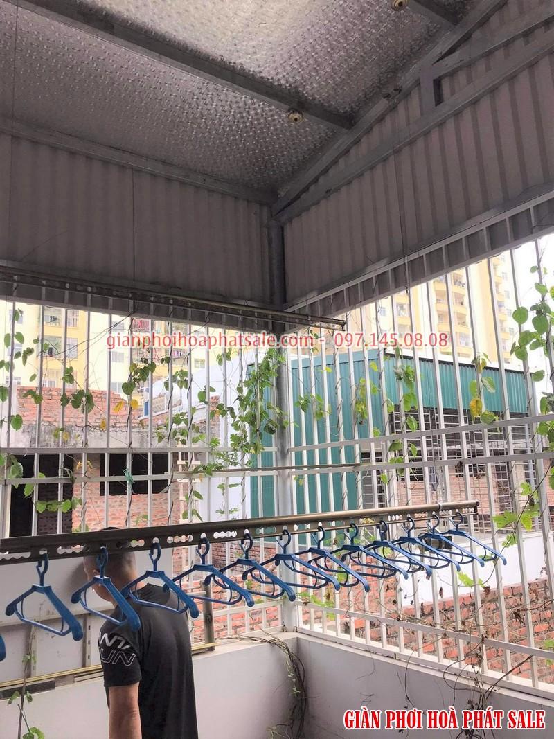 Lắp giàn phơi Hòa Phát tại Hoàng Mai nhà anh Thu - 03