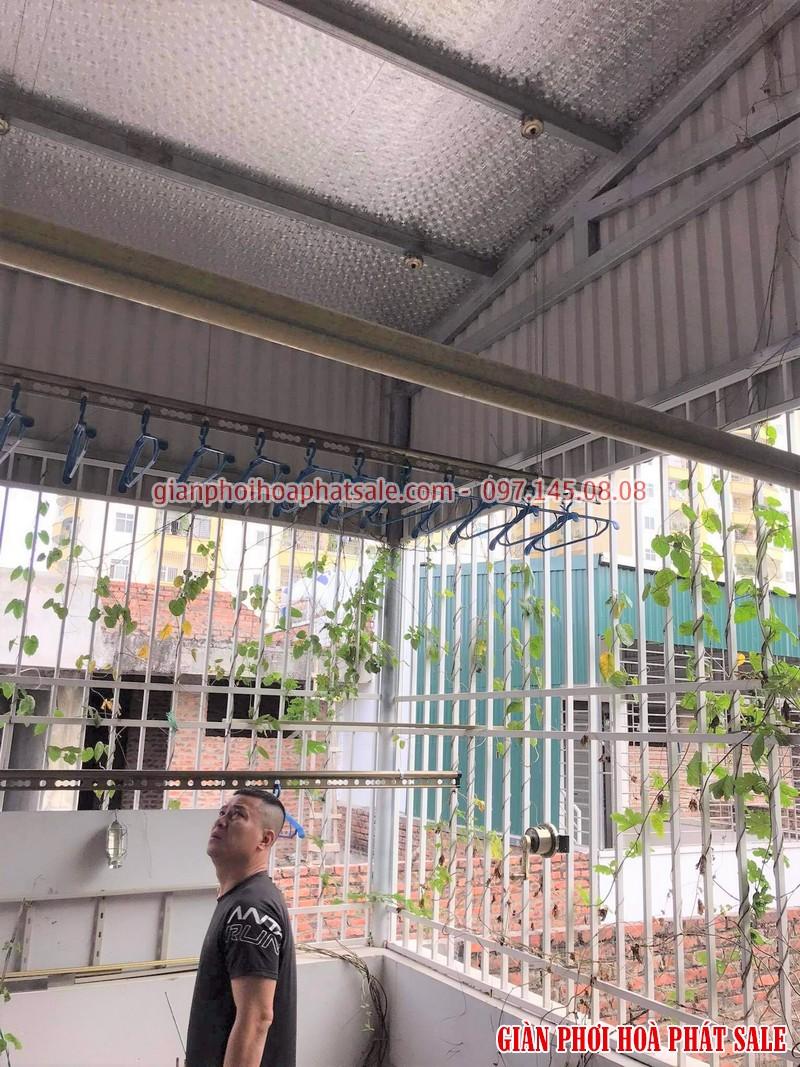 Lắp giàn phơi Hòa Phát tại Hoàng Mai nhà anh Thu - 04