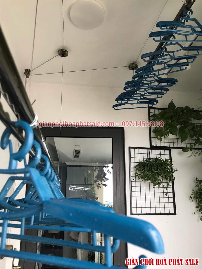 Lắp giàn phơi Tây Hồ, chung cư 59 Xuân Diệu nhà chị Nhung - 06
