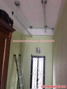 giàn phơi thông minh Hòa Phát HP999B lắp tại Ba Đình nhà chú Hòa - 06