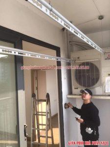 Lắp giàn phơi quần áo tại Long Biên bộ Hòa Phát HP300 nhà anh Lâm, chung cư Hanhomes - 01