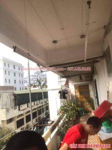 Tháo lắp, chuyển vị trí giàn phơi tại Hà Nội, tập thể 15C Trần Khánh Dư nhà anh Hiếu - 04