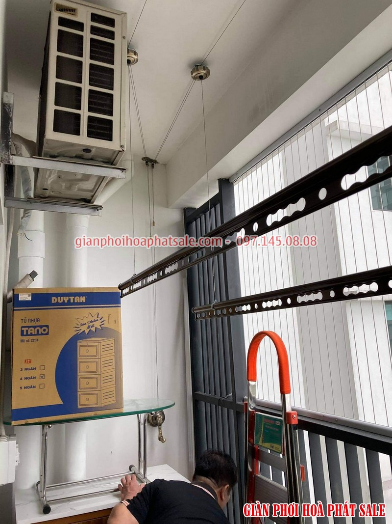 Lắp giàn phơi tại Gamuda City nhà anh Kiên, chung cư The Zen - 03