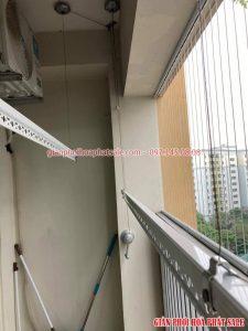 Lắp giàn phơi tại KĐT Tây Nam Linh Đàm nhà chị Hải, tòa CT2A - 03