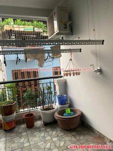 Lắp giàn phơi thông minh Long Biên nhà anh Khánh, phố Nguyễn Sơn - 06