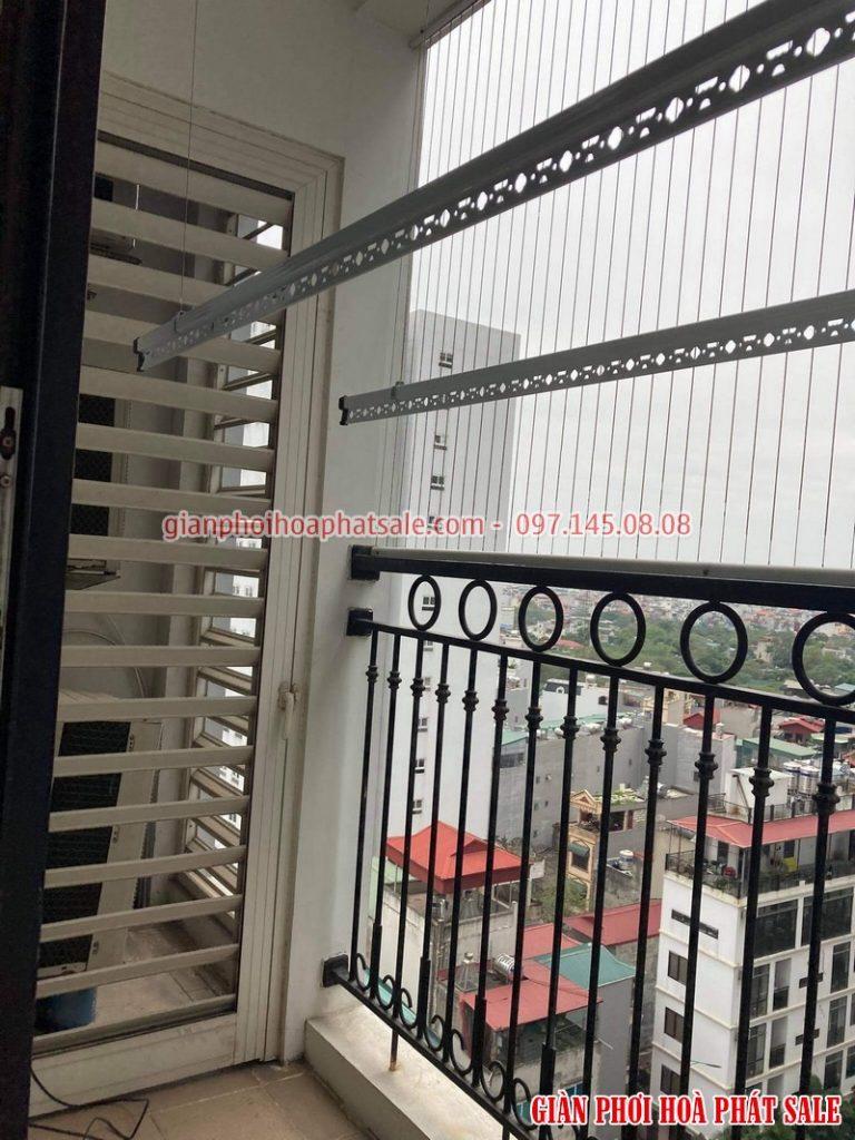 Giàn phơi Times City: lắp bộ Hòa phát KS950 tại tòa T2 nhà chị Hòa - 06