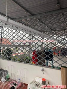 Lắp giàn phơi tại Việt Hưng Long Biên bộ Hòa Phát KS950 - 05