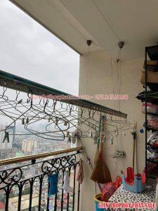 Sửa giàn phơi Hai Bà Trưng, thay dây cáp tại chung cư Hòa Bình Green - 06