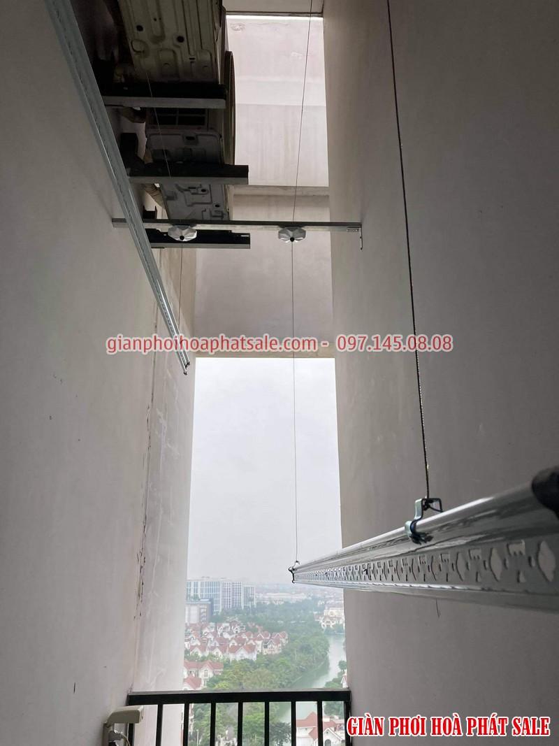 Lắp giàn phơi thông minh Ba Đình, chung cư C1 Thành Công nhà chị Tú- 04