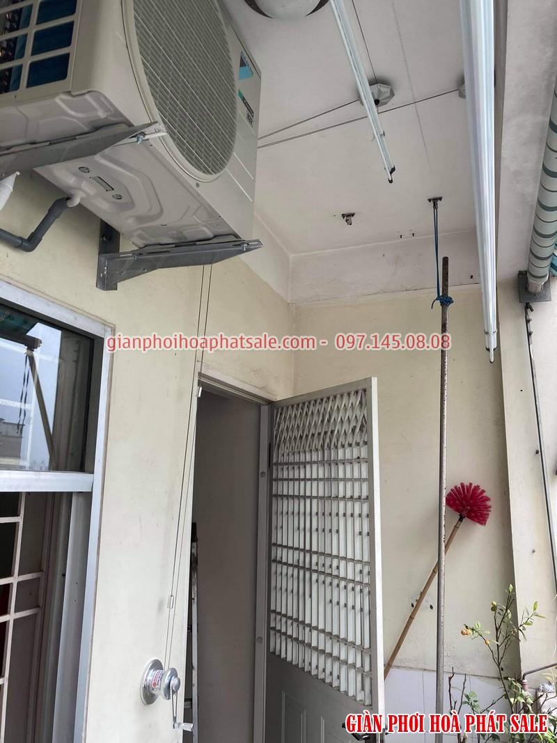 Lắp giàn phơi Đống Đa bộ Hòa Phát H003 tại chung cư B4 Kim Liên nhà anh Hiền - 02
