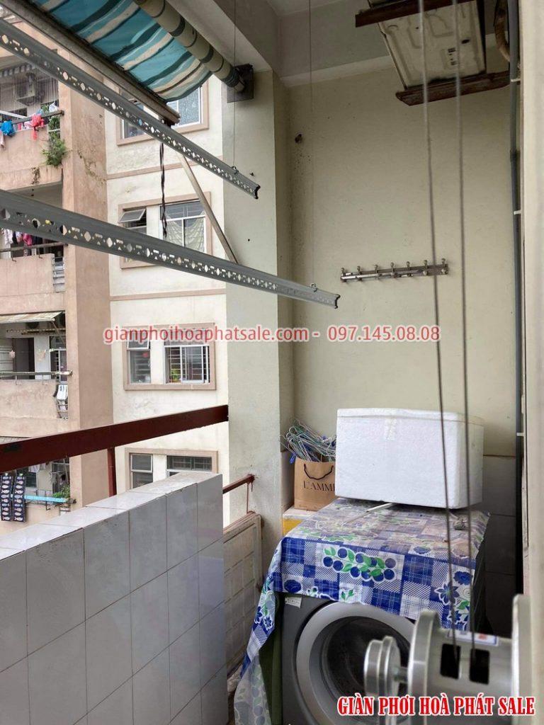 Lắp giàn phơi Đống Đa bộ Hòa Phát H003 tại chung cư B4 Kim Liên nhà anh Hiền - 04