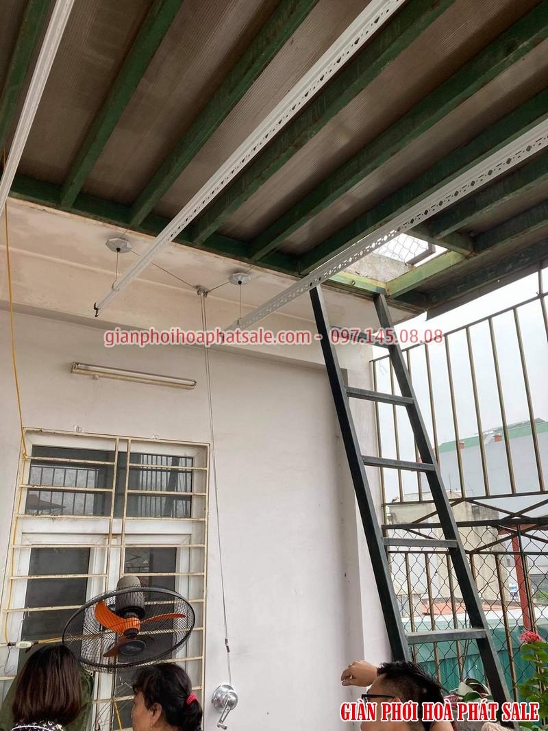 Lắp giàn phơi thông minh Hà Đông - 2 bộ Hòa Phát HP701 tại nhà anh Kiên, ngõ 793 Quang Trung - 04