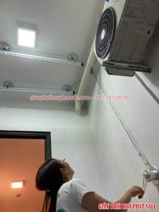 Lắp giàn phơi Hoàng Mai tại chung cư 885 Tam Trinh nhà chị Hiền - Mẫu Hòa Phát HP701 - 05