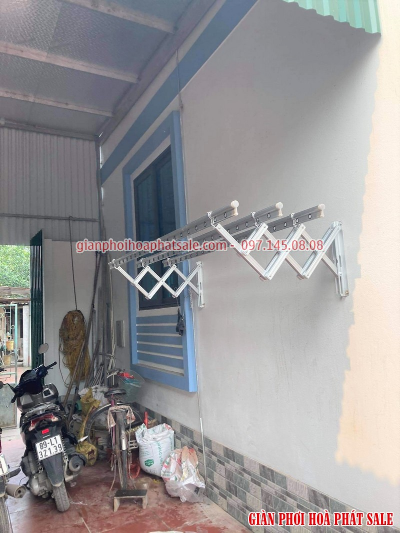 Lắp giàn phơi xếp ngang Hòa Phát tại Văn Lâm Hưng Yên nhà anh Quy - 01