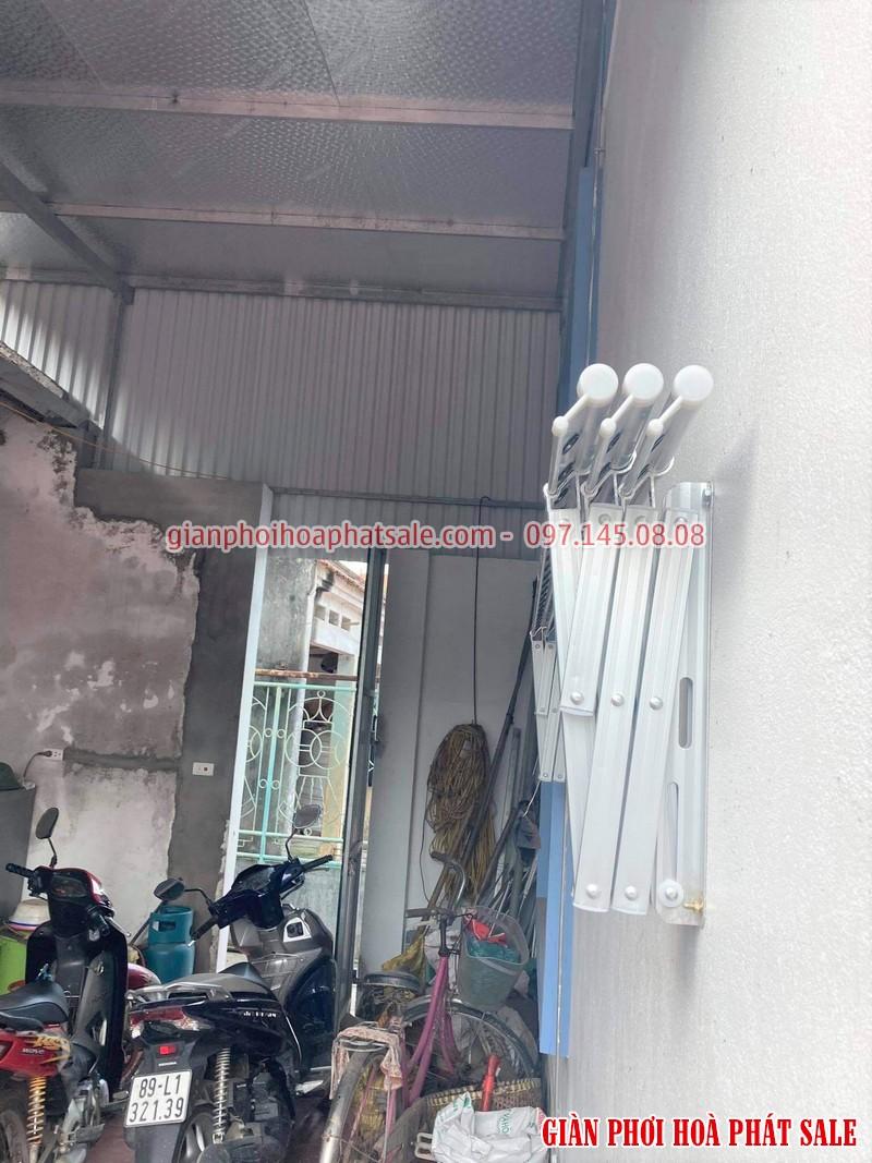 Lắp giàn phơi xếp ngang Hòa Phát tại Văn Lâm Hưng Yên nhà anh Quy - 02