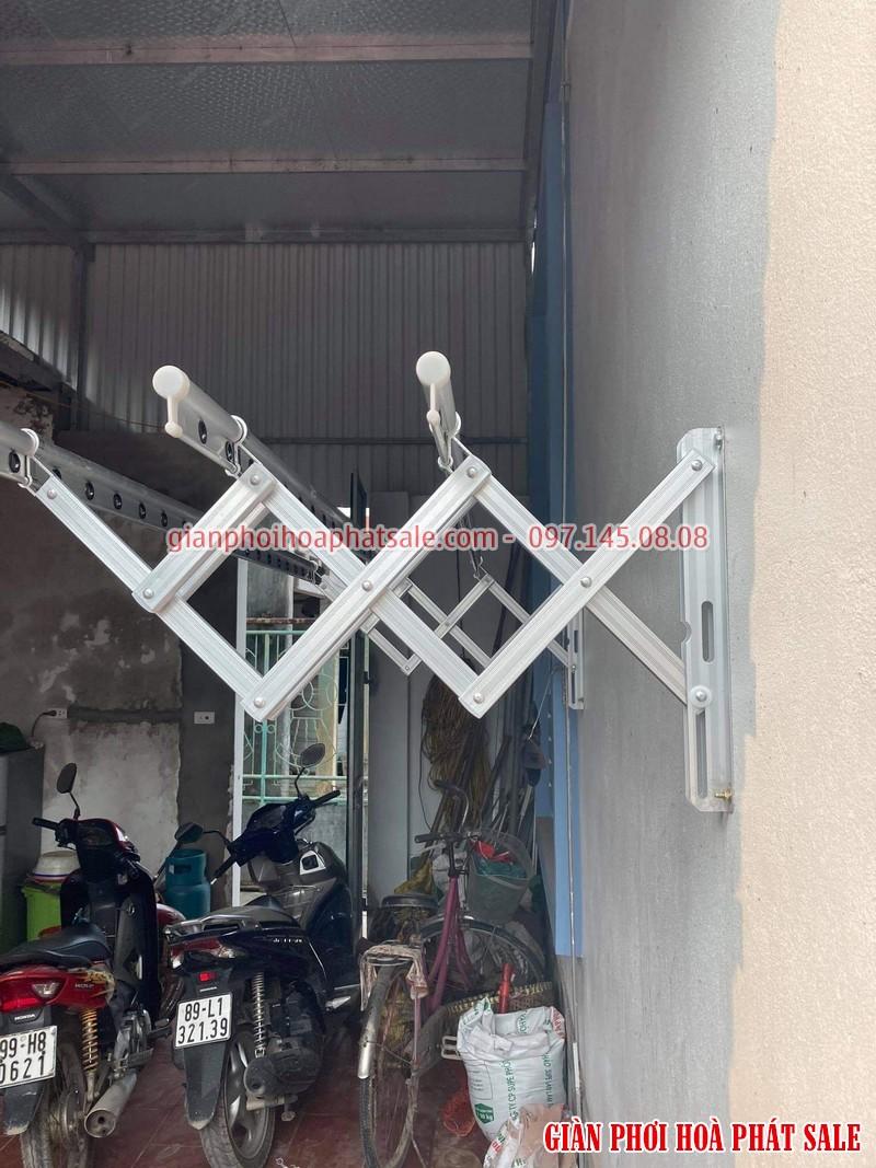 Lắp giàn phơi xếp ngang Hòa Phát tại Văn Lâm Hưng Yên nhà anh Quy - 03