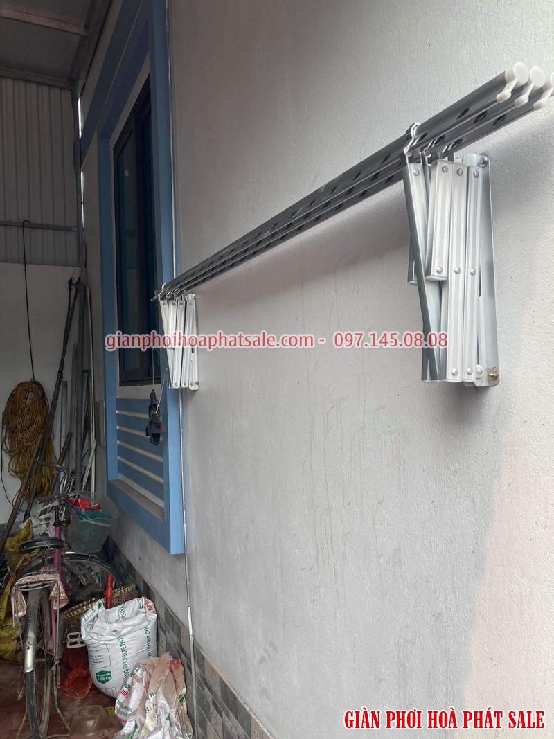 Lắp giàn phơi xếp ngang Hòa Phát tại Văn Lâm Hưng Yên nhà anh Quy - 04