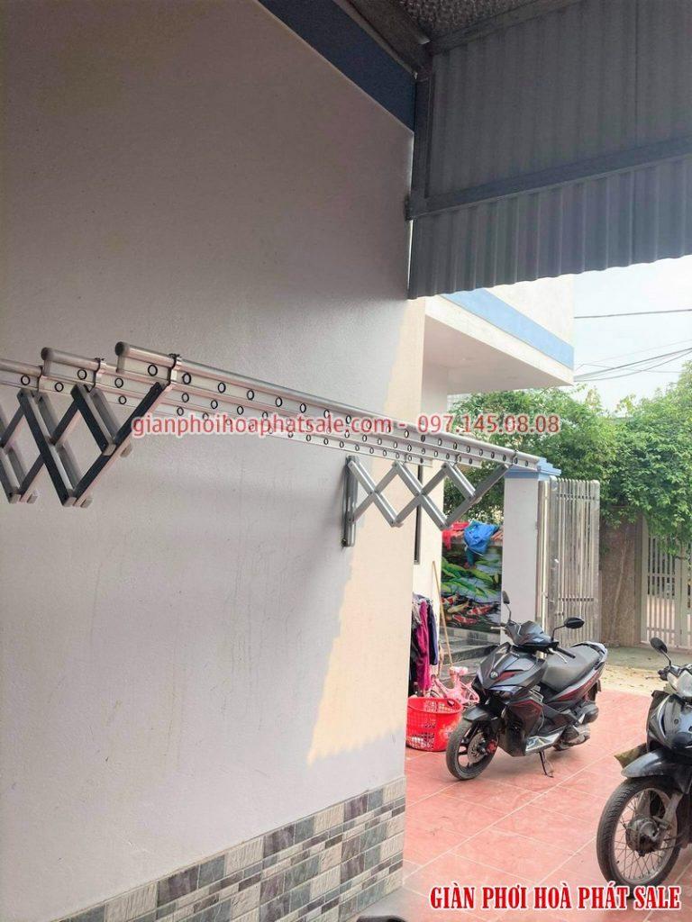 Lắp giàn phơi xếp ngang Hòa Phát tại Văn Lâm Hưng Yên nhà anh Quy - 05