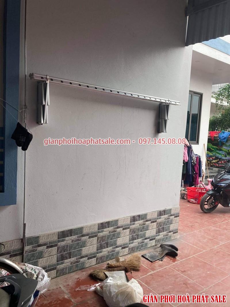 Lắp giàn phơi xếp ngang Hòa Phát tại Văn Lâm Hưng Yên nhà anh Quy - 06