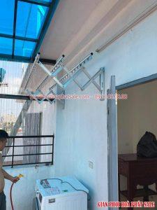giàn phơi gắn tường Hòa Phát 68A cấu tạo đơn giản, độ bền cao