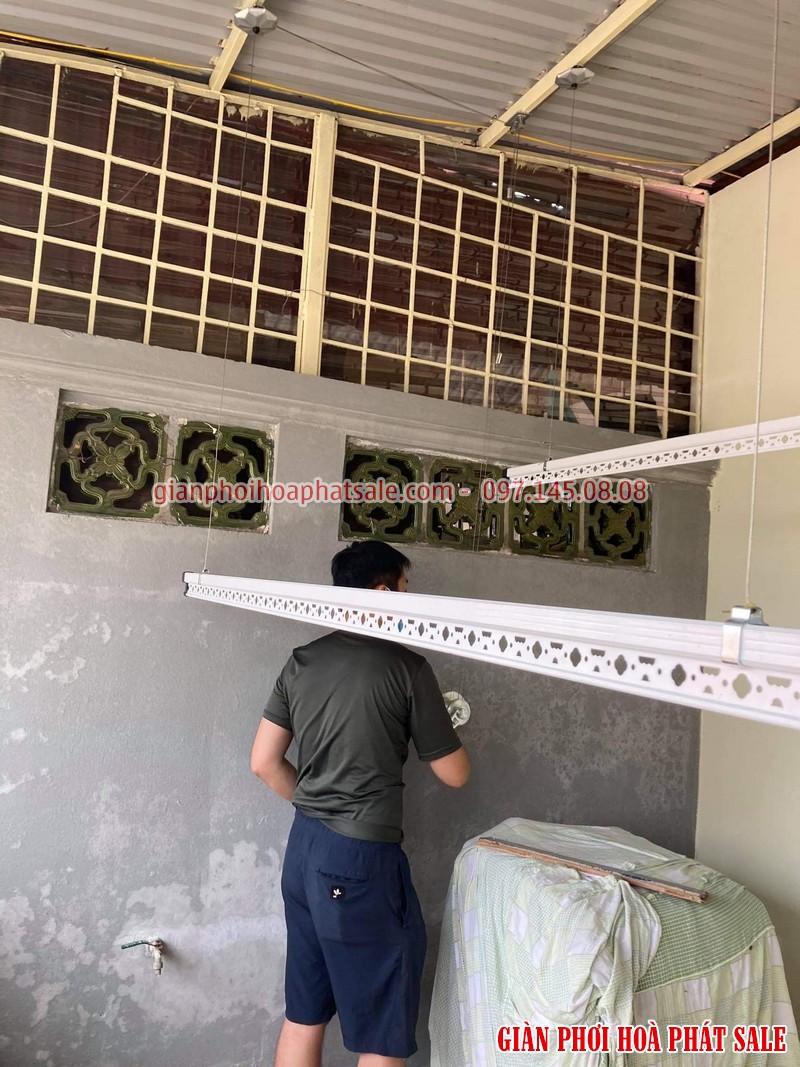 Lắp giàn phơi thông minh Hà Đông tại sân phơi mái tôn nhà anh Tiến - 01