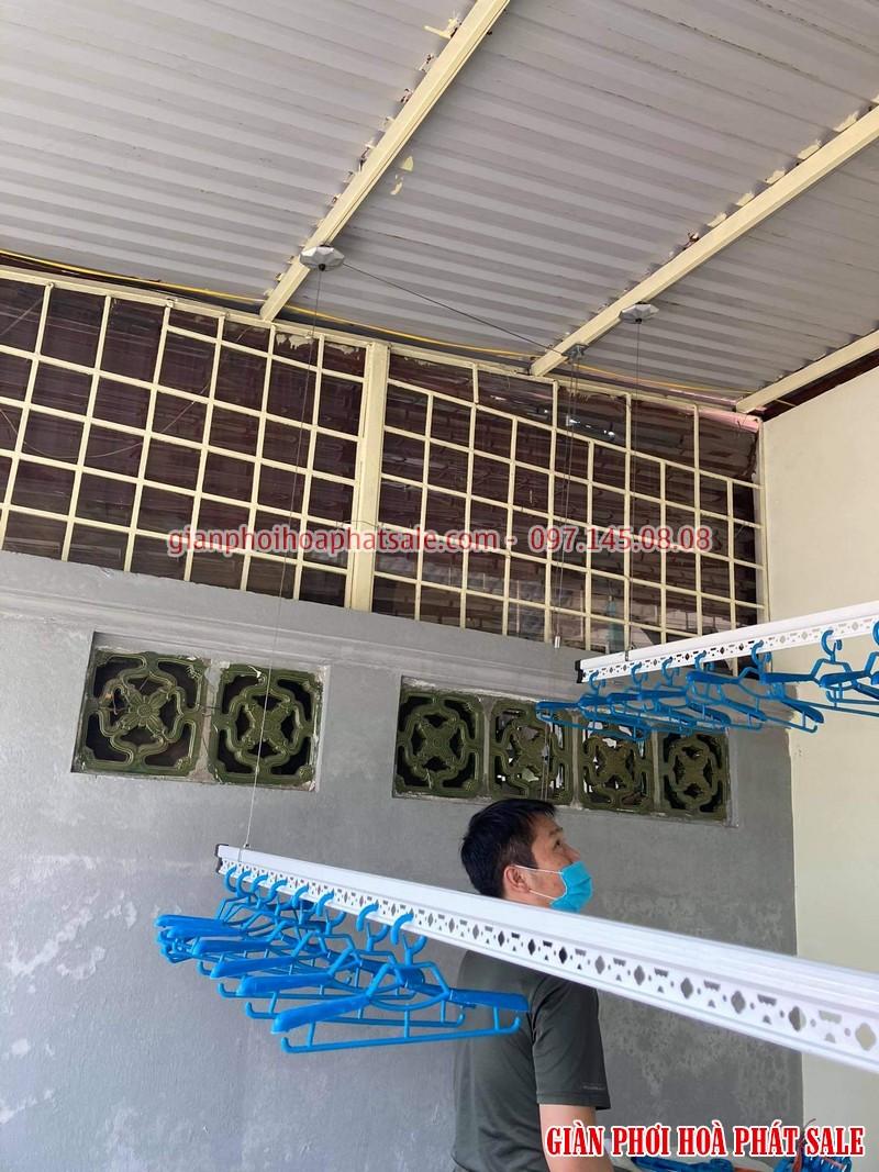 Lắp giàn phơi thông minh Hà Đông tại sân phơi mái tôn nhà anh Tiến - 03