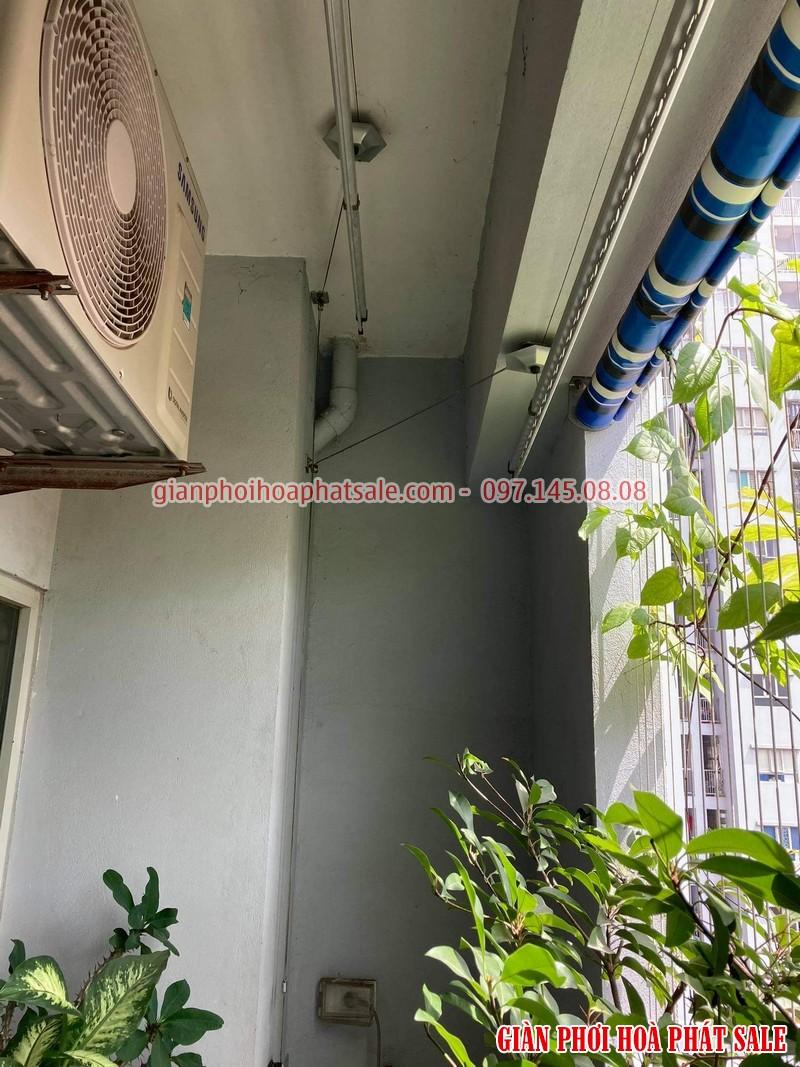 Sửa giàn phơi Hòa Phát tại Long Biên: thay dây giá rẻ nhà chị Hòa - 01