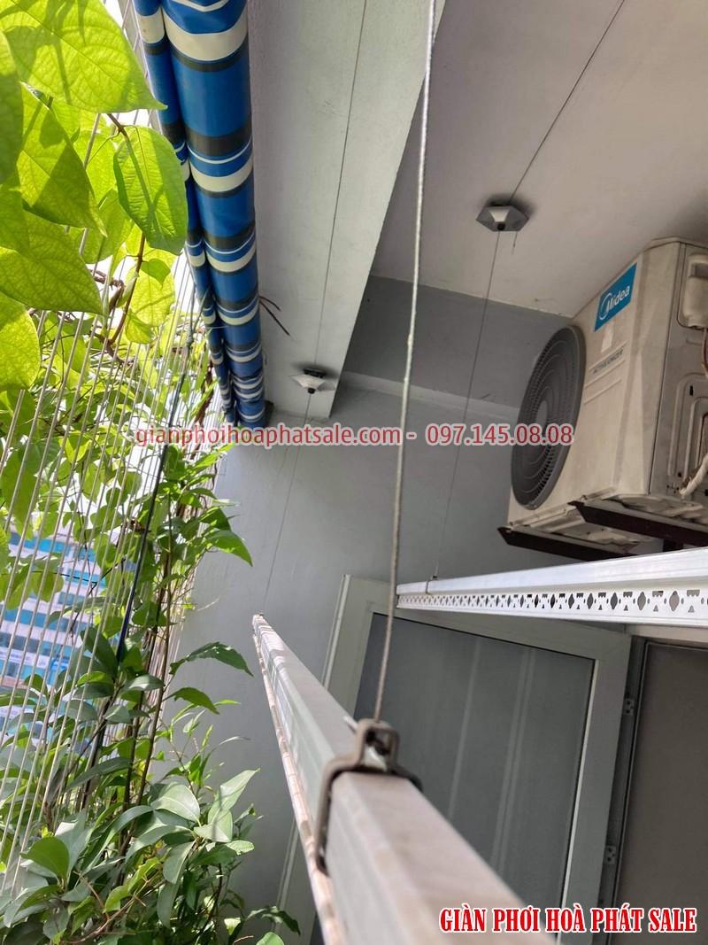 Sửa giàn phơi Hòa Phát tại Long Biên: thay dây giá rẻ nhà chị Hòa - 02