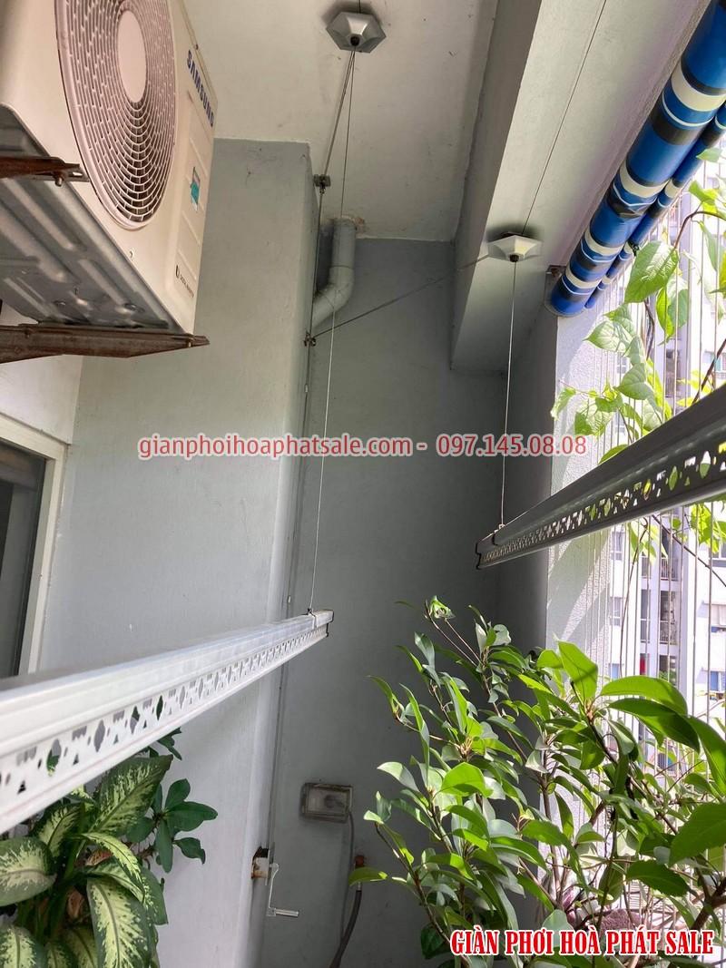 Sửa giàn phơi Hòa Phát tại Long Biên: thay dây giá rẻ nhà chị Hòa - 03