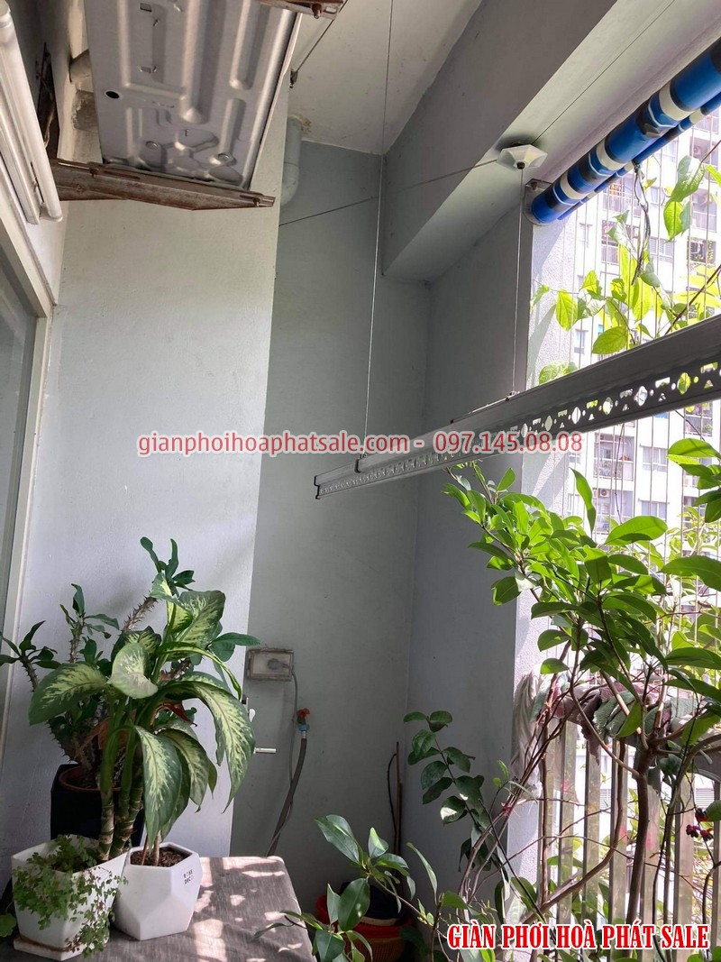 Sửa giàn phơi Hòa Phát tại Long Biên: thay dây giá rẻ nhà chị Hòa - 04