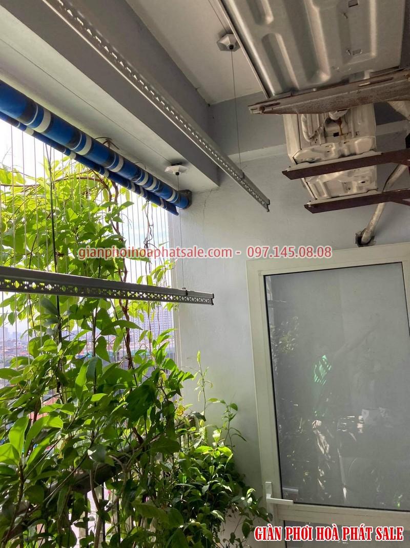 Sửa giàn phơi Hòa Phát tại Long Biên: thay dây giá rẻ nhà chị Hòa - 05