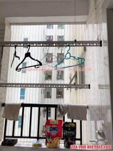 Sửa giàn phơi quần áo thông minh tại Hoàng Mai nhà chị Lanh - 06