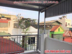 Lắp lưới an toàn cho sân phơi nhà anh Dũng, Thanh Xuân, Hà Nội - 06